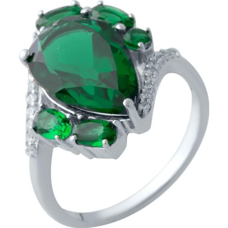 Серебряное кольцо SilverBreeze с изумрудом nano 4.988ct (2021070) 18 размер