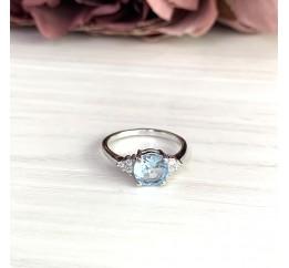Серебряное кольцо SilverBreeze с натуральным топазом (2018612) 18 размер