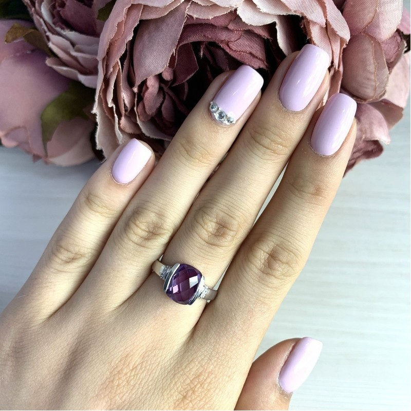 Серебряное кольцо SilverBreeze с олександритом 3.735ct (2017622) 19 размер