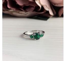 Серебряное кольцо SilverBreeze с изумрудом nano (2013068) 18.5 размер