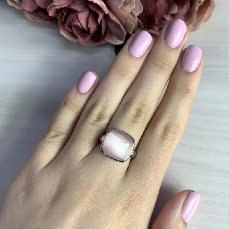 Серебряное кольцо SilverBreeze с кошачим глазом (2005421) 17.5 размер