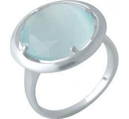 Серебряное кольцо SilverBreeze с кошачим глазом (2004165) 16.5 размер