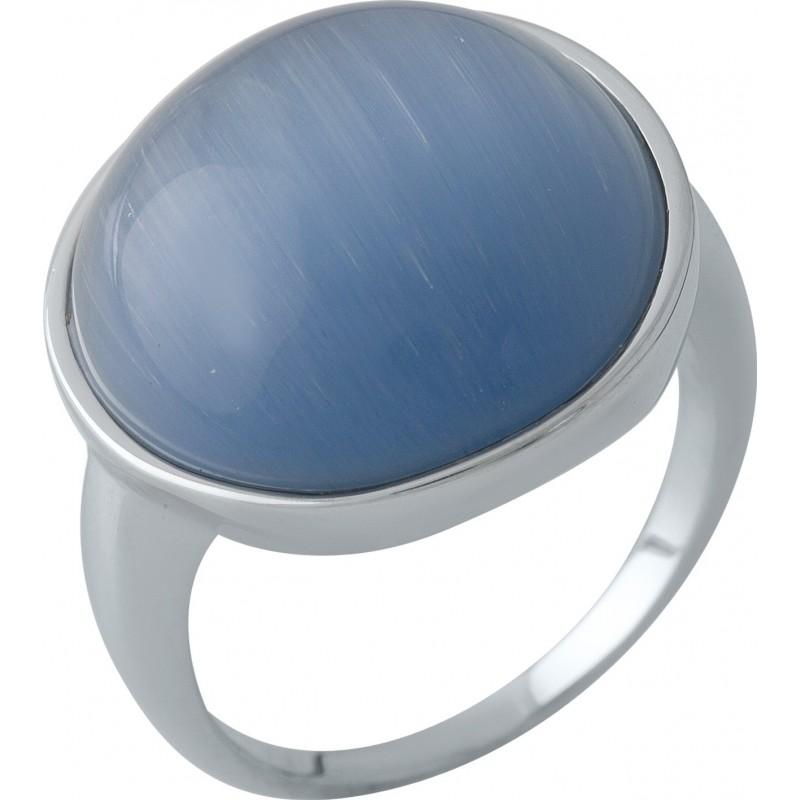 Серебряное кольцо SilverBreeze с кошачим глазом (2003007) 17.5 размер