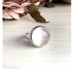 Серебряное кольцо SilverBreeze с кошачим глазом (2002611) 17.5 размер