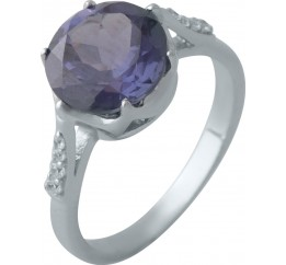 Серебряное кольцо SilverBreeze с олександритом 4.87ct (2002338) 18 размер