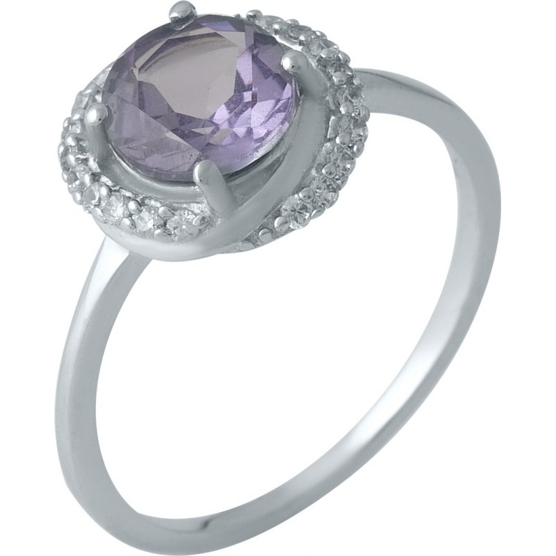 Серебряное кольцо SilverBreeze с олександритом 2ct (1989180) 18.5 размер