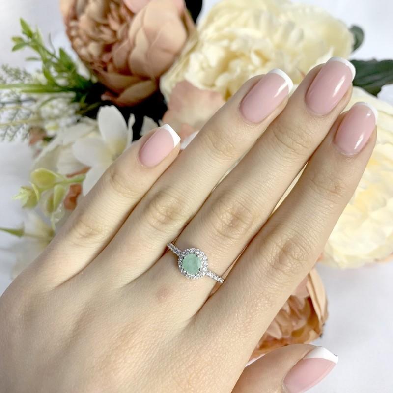 Серебряное кольцо SilverBreeze с натуральным изумрудом 0.84ct (1988534) 16 размер