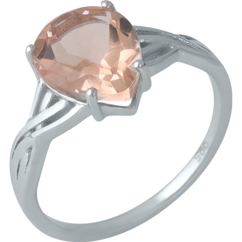 Серебряное кольцо SilverBreeze с морганитом nano 3.027ct (1988213) 17.5 размер