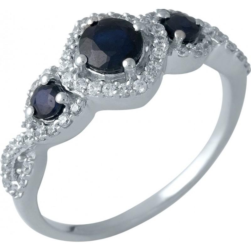 Серебряное кольцо SilverBreeze с натуральным сапфиром 1.461ct (1987636) 17.5 размер