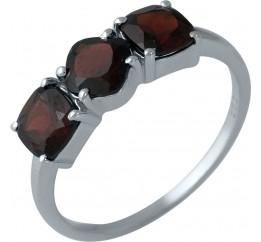 Серебряное кольцо SilverBreeze с натуральным гранатом 2.08ct (1987582) 17.5 размер