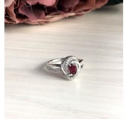 Серебряное кольцо SilverBreeze с натуральным рубином 0.95ct (1987483) 18.5 размер