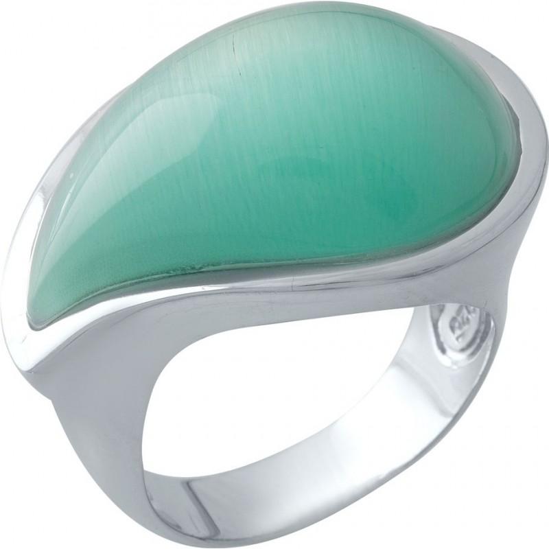 Серебряное кольцо SilverBreeze с кошачим глазом (1977323) 18.5 размер