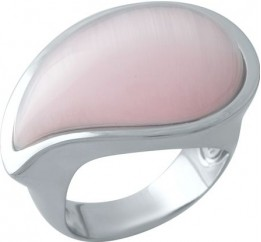 Серебряное кольцо SilverBreeze с кошачим глазом (1977309) 17 размер