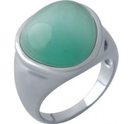 Серебряное кольцо SilverBreeze с кошачим глазом (1974490) 17 размер