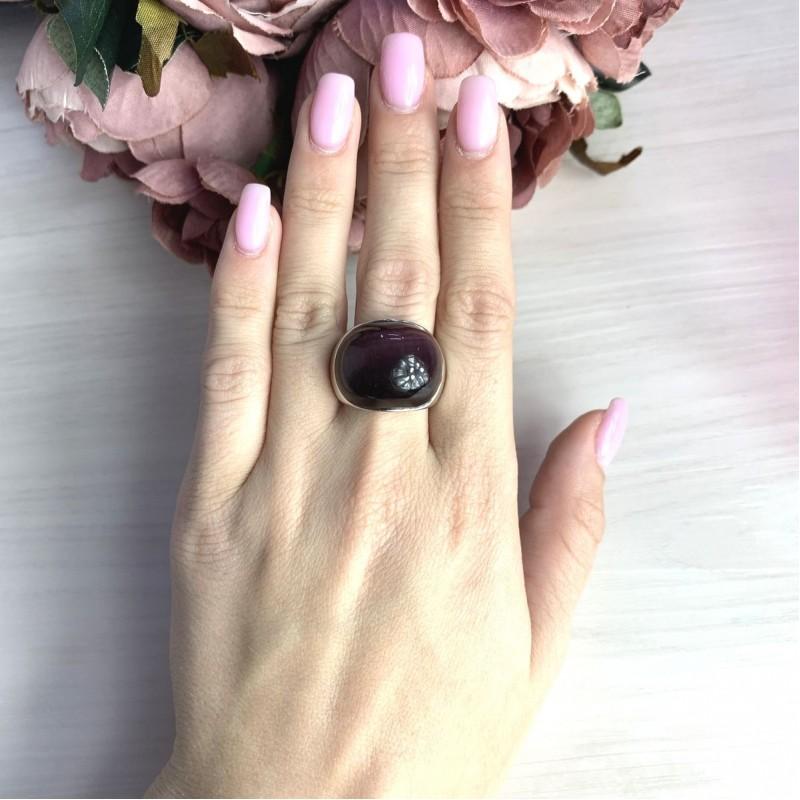 Серебряное кольцо SilverBreeze с кошачим глазом (1973738) 18.5 размер