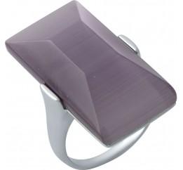 Серебряное кольцо SilverBreeze с кошачим глазом (1973639) 17 размер