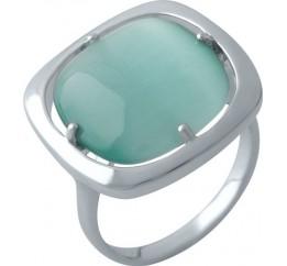 Серебряное кольцо SilverBreeze с кошачим глазом (1973578) 18.5 размер