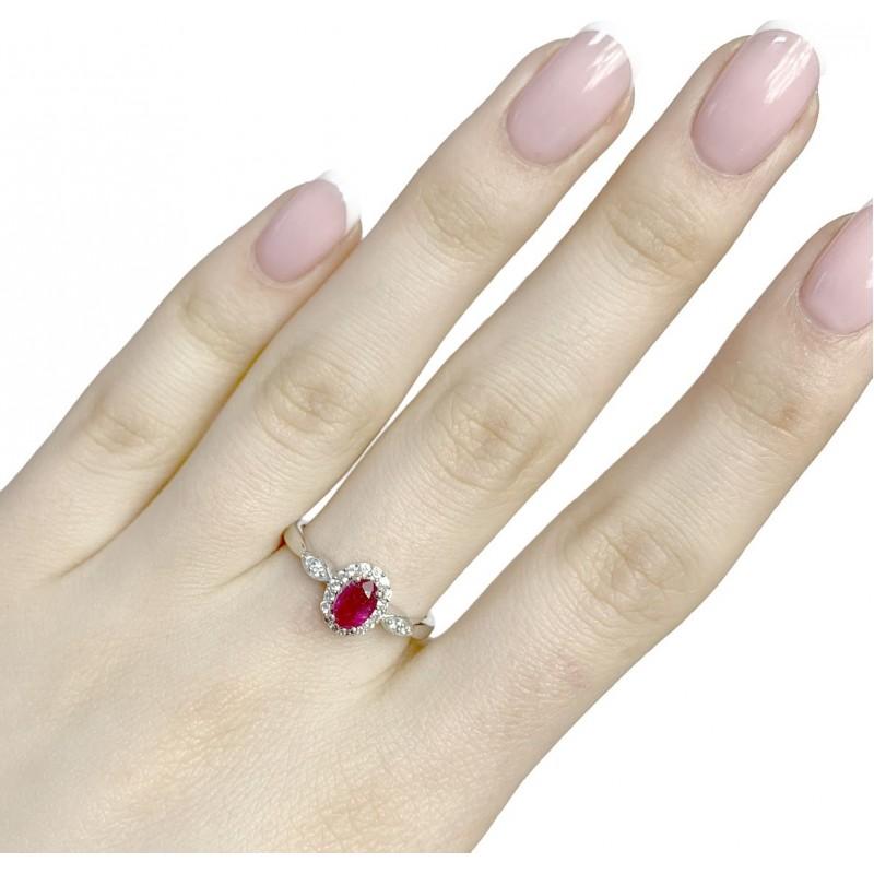 Серебряное кольцо SilverBreeze с натуральным рубином 0.917ct (1972724) 18.5 размер