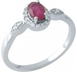 Серебряное кольцо SilverBreeze с натуральным рубином 0.917ct (1972724) 18 размер
