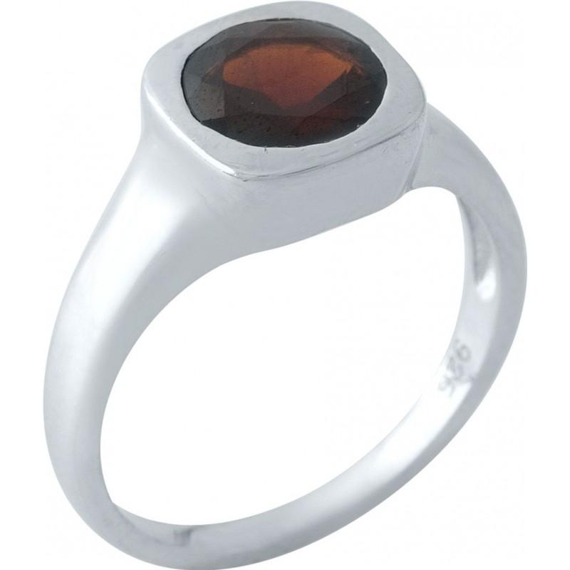 Серебряное кольцо SilverBreeze с натуральным гранатом 1.938ct (1972243) 17.5 размер
