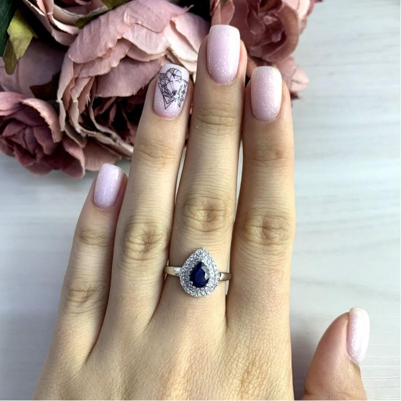 Серебряное кольцо SilverBreeze с натуральным сапфиром 0.93ct (1971239) 18.5 размер