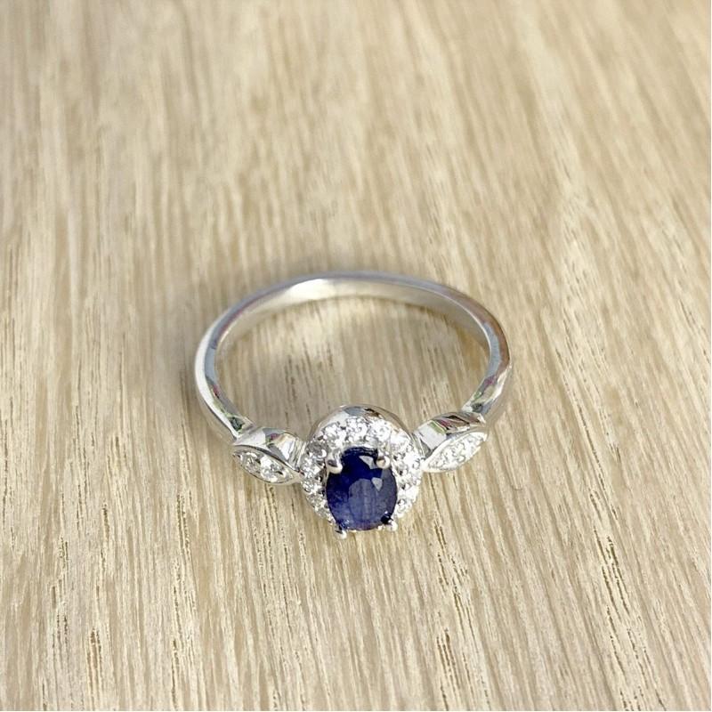 Серебряное кольцо SilverBreeze с натуральным сапфиром 0.858ct (1971215) 17.5 размер