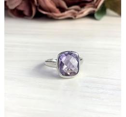 Серебряное кольцо SilverBreeze с натуральным аметистом 4.68ct (1970058) 17 размер