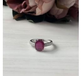Серебряное кольцо SilverBreeze с натуральным рубином 4.19ct (1968116) 17.5 размер