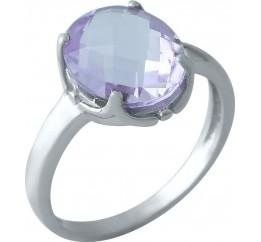 Серебряное кольцо SilverBreeze с натуральным аметистом 4.075ct (1966006) 18.5 размер