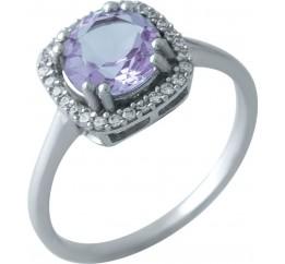Серебряное кольцо SilverBreeze с натуральным аметистом 2.008ct (1965931) 16.5 размер