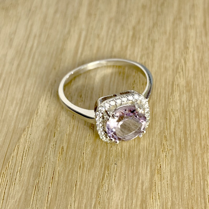 Серебряное кольцо SilverBreeze с натуральным аметистом 2.008ct (1965931) 17 размер
