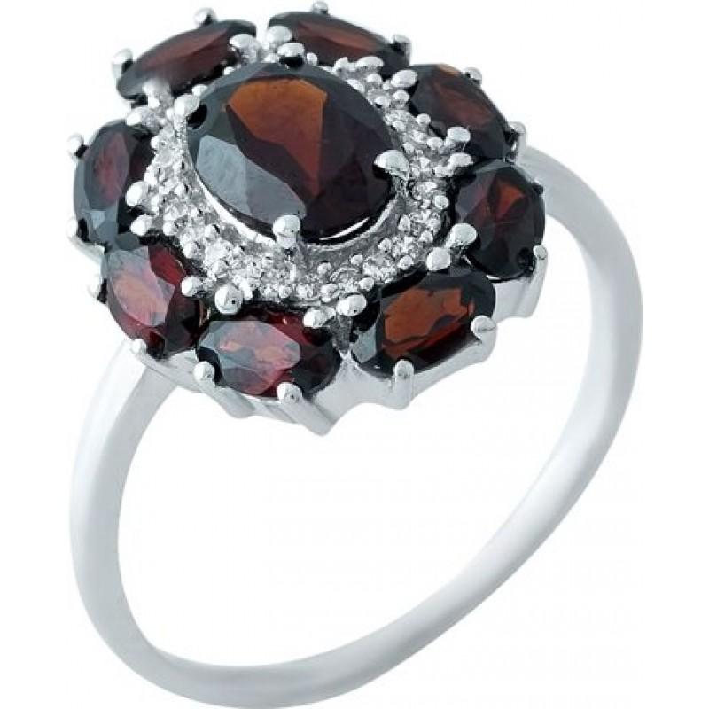 Серебряное кольцо SilverBreeze с натуральным гранатом 4.133ct (1965610) 18.5 размер