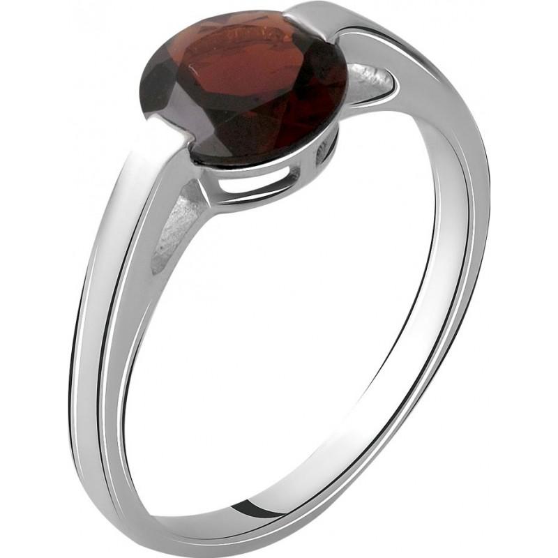 Серебряное кольцо SilverBreeze с натуральным гранатом 2.013ct (1965528) 18 размер