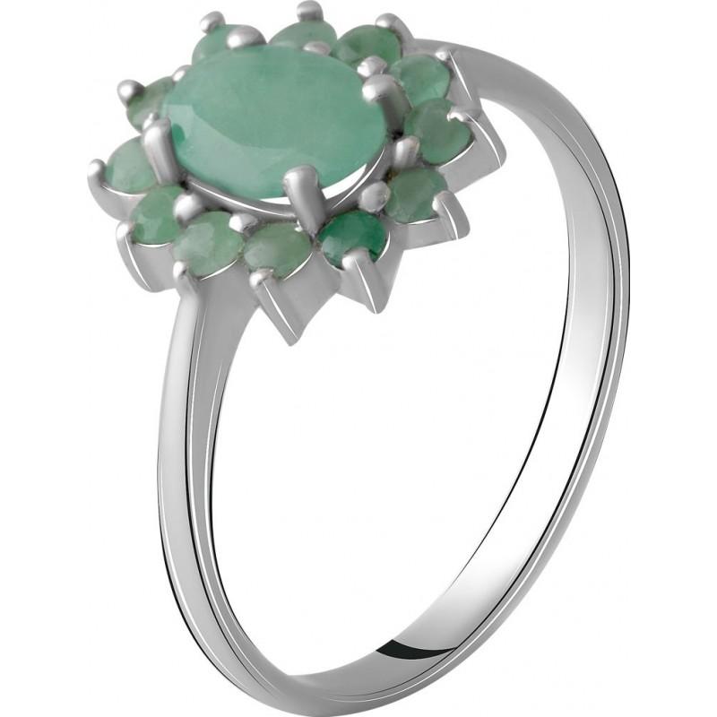 Серебряное кольцо SilverBreeze с натуральным изумрудом 1.216ct (1964804) 17 размер