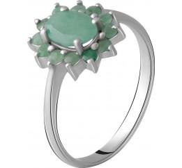 Серебряное кольцо SilverBreeze с натуральным изумрудом 1.216ct (1964804) 18.5 размер