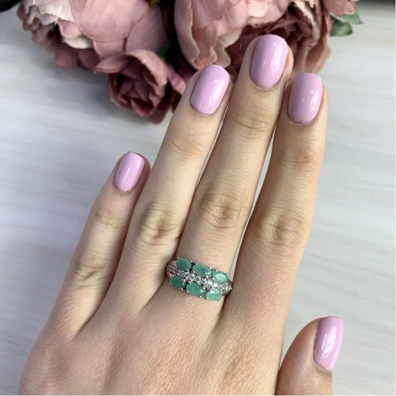 Серебряное кольцо SilverBreeze с натуральным изумрудом 1.844ct (1962046) 17 размер