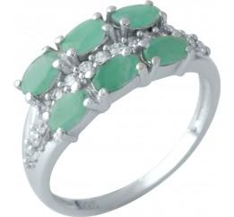 Серебряное кольцо SilverBreeze с натуральным изумрудом 1.844ct (1962046) 17.5 размер