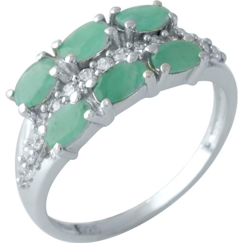 Серебряное кольцо SilverBreeze с натуральным изумрудом 1.844ct (1962046) 18 размер