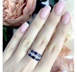Серебряное кольцо SilverBreeze с натуральным сапфиром 2.3ct (1961643) 17.5 размер