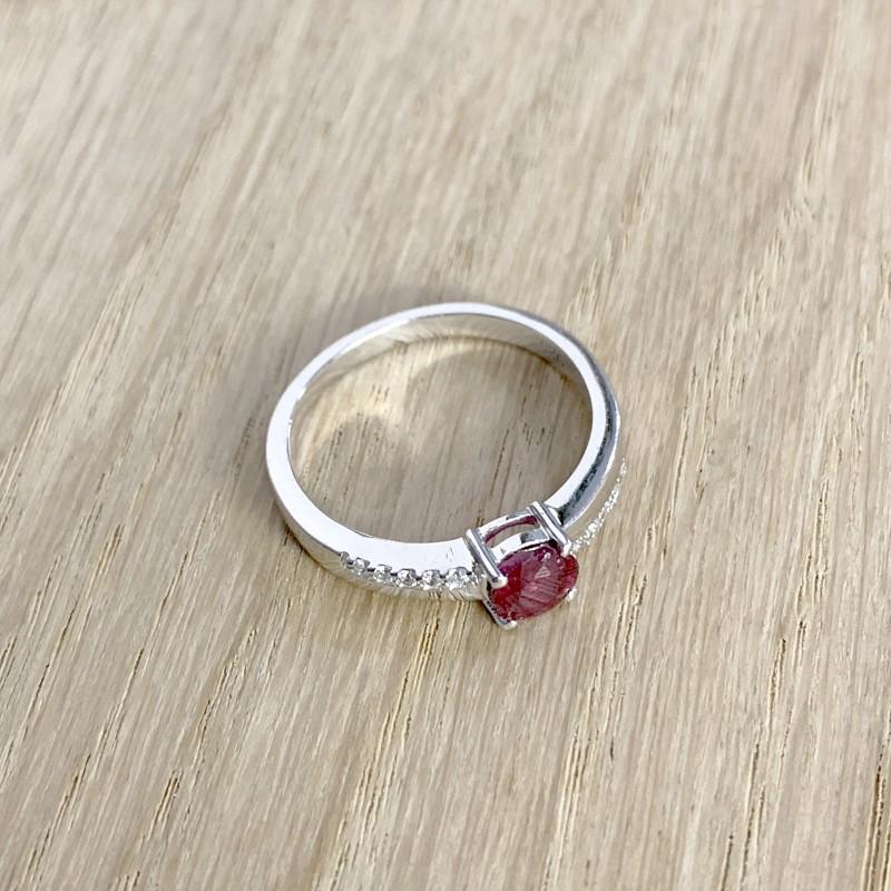 Серебряное кольцо SilverBreeze с натуральным рубином (1959565) 18 размер