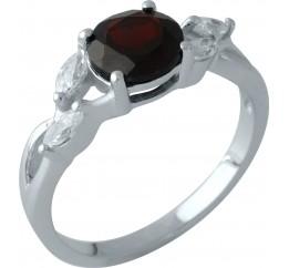 Серебряное кольцо SilverBreeze с натуральным гранатом 1.938ct (1958636) 17 размер