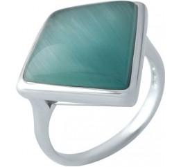 Серебряное кольцо SilverBreeze с кошачим глазом (1956830) 17.5 размер