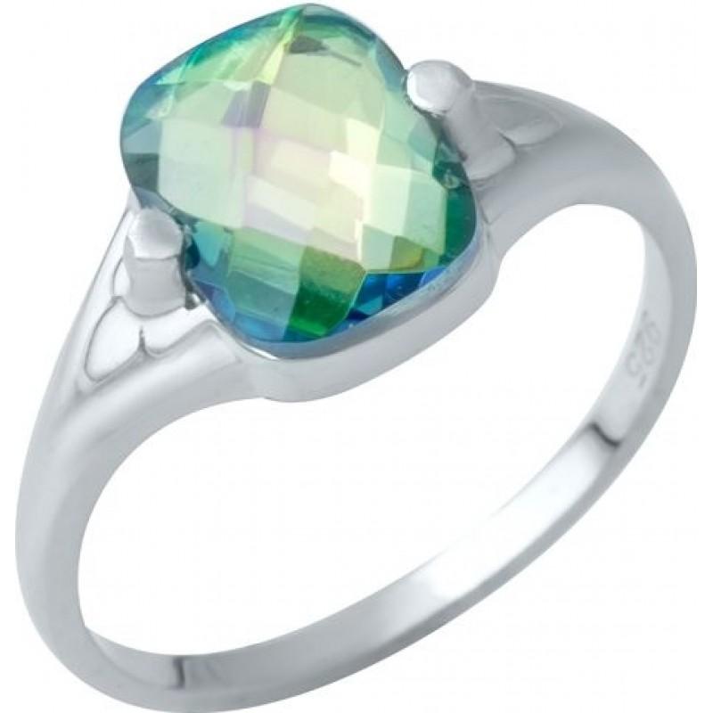 Серебряное кольцо SilverBreeze с натуральным мистик топазом 2.175ct (1949610) 17 размер