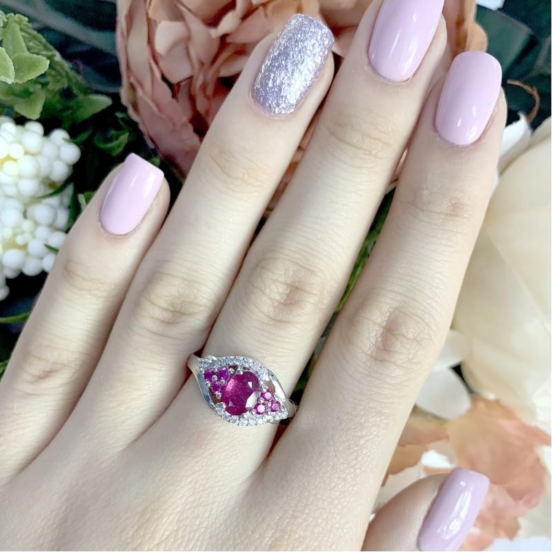 Серебряное кольцо SilverBreeze с натуральным рубином 1.38ct (1947005) 19 размер