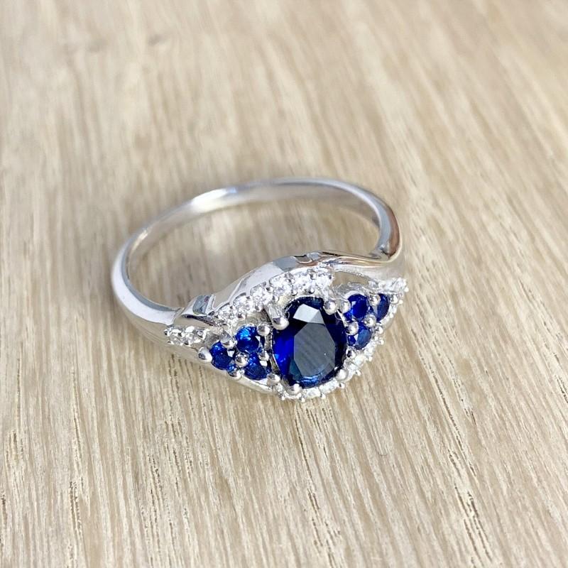 Серебряное кольцо SilverBreeze с натуральным сапфиром 1.41ct (1946862) 17.5 размер
