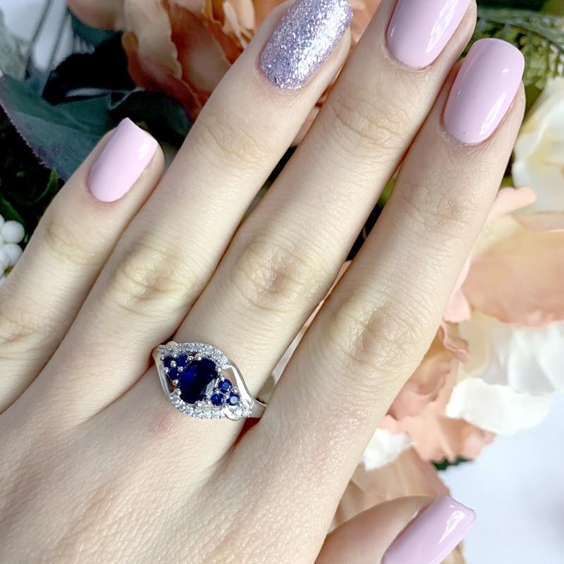 Серебряное кольцо SilverBreeze с натуральным сапфиром 1.41ct (1946862) 19 размер