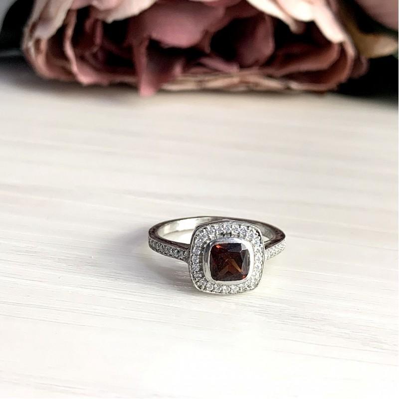 Серебряное кольцо SilverBreeze с натуральным гранатом 1.578ct (1945742) 17 размер