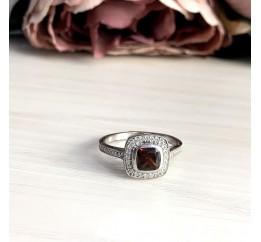 Серебряное кольцо SilverBreeze с натуральным гранатом 1.578ct (1945742) 19 размер