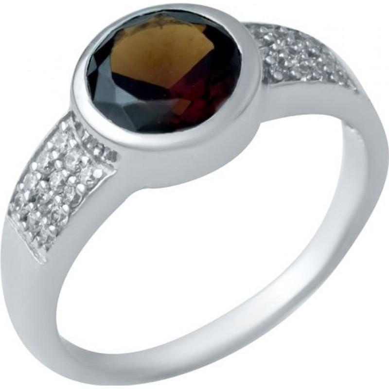 Серебряное кольцо SilverBreeze с натуральным гранатом 2.202ct (1940822) 17 размер
