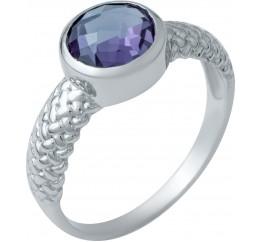 Серебряное кольцо SilverBreeze с олександритом (1940440) 17.5 размер